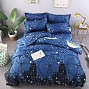baratos Edredons Estampa Geométrica-Azul Claro Geométrica / Floral / Botânico Poliéster / Algodão Estampado 1 PeçaBedding Sets