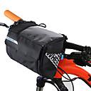 billige Hånddusj-3 L Vesker til sykkelstyre Bærbar Regn-sikker Anvendelig Sykkelveske Lær PVC 400D Nylon Sykkelveske Sykkelveske Sykling Utendørs Trening Sykkel