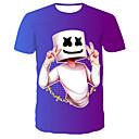 Χαμηλού Κόστους Ελικόπτερα Ελέγχου Radio-Ανδρικά T-shirt Κομψό στυλ street / Πανκ & Γκόθικ Συνδυασμός Χρωμάτων / Ζώο Στάμπα Θαλασσί