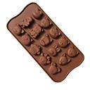 billige 3D gardiner-søt kakeform nydelig dyrehull mønster 15 dyr silikon sjokoladeform diy bakervarer til