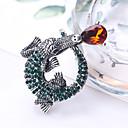 baratos Broches-Mulheres Broches Animal Desenho Fashion Broche Jóias Prata Para Presente Diário