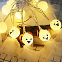 Χαμηλού Κόστους LED Φωτολωρίδες-ghost halloween stränglampor 2m 20 led söta spets spöke för halloween party halloween dekoration belysning 1set