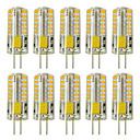 Χαμηλού Κόστους LED Bi-pin Λαμπτήρες-zdm 10pcs g4 5w 3014 x 48 λάμπες λυχνίας λευκού φωτός ac12v μη φωτισμό ισοδύναμο με 20w-25w t3 αντικατάσταση λαμπτήρα αλογόνου οδήγησε λαμπτήρες