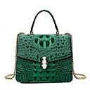 ราคาถูก กระเป๋า Totes-สำหรับผู้หญิง กระดุม / โซ่ PU กระเป๋าถือยอดนิยม สีทึบ สีดำ / ขาว / สีม่วง / ฤดูใบไม้ร่วง & ฤดูหนาว