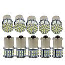 billige Bi-pin lamper med LED-10pcs 1156 / 1157 Bil Elpærer SMD 3014 50 LED Blinklys / Bremselys / Reversering (backup) lys Til Universell Alle år