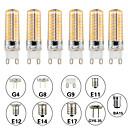 ราคาถูก หลอดไฟ-6 ชิ้น 5 W หลอด LED รูปข้าวโพด หลอดเสียบคู่ LED 500 lm E14 G9 G4 T 80 ลูกปัด LED SMD 3014 หรี่แสงได้ ดีไซน์มาใหม่ ขาวนวล White 220-240 V 110-120 V