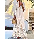 Χαμηλού Κόστους Τσάντες χιαστί-Γυναικεία Κομψό Swing Φόρεμα - Μονόχρωμο Μακρύ