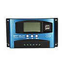זול Solar Controllers-30/40/50/60 / 100a בקר סולארי mppt lcd בקר טעינה סולארית דיוק סוללה פנל סולארי usb כפול usb - 40a