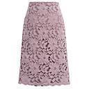 billige Fashion Rings-Dame Grunnleggende A-linje Skjørt Geometrisk Svart Lyseblå Lilla M L XL