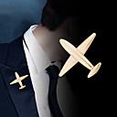 baratos Broches-Homens Broches Clássico Avião Clássico Básico Punk Rock Fashion Broche Jóias Dourado Prata Para Casamento Festa Diário Trabalho Bandagem