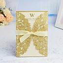 """Χαμηλού Κόστους Προσκλητήρια Γάμου-Εσάροα & Τσέπη Προσκλητηρια Γαμου 30pcs - Προσκλητήρια / Ευχαριστήριες Κάρτες / Δείγμα Πρόσκλησης Καλλιτεχνικό στυλ / Μοντέρνο Στυλ / Άνθινο Στυλ Χαρτί Περλέ 5 """"× 7 ¼"""" (12,7 * 18,4 εκατοστά)"""