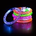 povoljno Muško prstenje-1pc noćno svjetlo treperi LED narukvicu akril svjetlo narukvica božićni party svjetlo narukvica dječje igračke Halloween rođendan