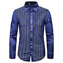 billige Crossbody-vesker-Skjorte Herre - Grafisk, Paljetter Grunnleggende Svart & Rød / Rød Gull