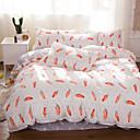 ราคาถูก ปลอกผ้าห่มทันสมัย-ชุดผ้านวมคลุม สีพื้น / การ์ตูน Polyester / Polyamide Reactive Print 4 ชิ้นBedding Sets