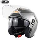 ราคาถูก หมวกกันน็อกจักรยานยนต์-soman หมวกกันน็อกคู่รถจักรยานยนต์ u nisex มอเตอร์จักรยานขี่จักรยานหางเสือมอเตอร์ไฟฟ้าหมวก sm517