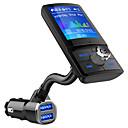 billiga Bluetooth-set för bilen/Hands-free-bc43 bluetooth fm sändare lcd handsfree bilsats mp3-spelare qc3.0 usb laddare biltillbehör auto fm modulator