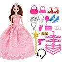 povoljno Dodaci za lutku-Haljina za lutke Party / Večer Za Barbie Čipka Organza Haljina Za Djevojka je Doll igračkama