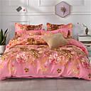 ราคาถูก ปลอกผ้าห่มลายดอกไม้-ปกผ้านวม รูปเรขาคณิต / ลวดลายดอกไม้ / เกี่ยวกับพฤษศาสตร์ Poly / Cotton Printed 1 ชิ้นBedding Sets