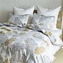 ราคาถูก ปลอกผ้าห่มสีเข้ม-ชุดผ้านวมคลุม สีพื้น / สีแดงเข้ม / ต้นไม้ / ใบไม้ Polyester / Polyamide Printed 3 ชิ้นBedding Sets