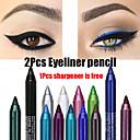baratos Delineadores para os Olhos-2 pcs colorido pigmento de longa duração à prova d 'água lápis delineador moda maquiagem dos olhos cosméticos