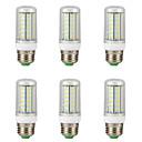 Χαμηλού Κόστους LED Φωτολωρίδες-6pcs 12 W LED Λάμπες Καλαμπόκι 300 lm E14 G9 GU10 T 96 LED χάντρες SMD 4014 Νεό Σχέδιο Θερμό Λευκό Άσπρο 220-240 V 110-130 V