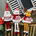 billiga Christmas Gifts-Julfigurer / juldekoration Familj Flanell Fyrkantig Tecknat / Tecknade leksaker Juldekoration
