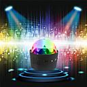 Χαμηλού Κόστους Φώτα Σκηνής-loende ασύρματο disco μπάλες φώτα μπαταρία λειτουργούν ήχο ενεργοποιημένο οδήγησε συμβαλλόμενο μέρος strobe φως μίνι φορητό rgb dj στάδιο φωτός με usb