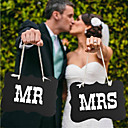 billige Bryllupsdekorationer-Fotorekvisitter og skilte / Bryllup Dekorationer Fest / Festival Bryllup Alle årstider