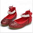 Χαμηλού Κόστους Χαμηλές γόβες για έφηβες-Κοριτσίστικα Μοντέρνα παπούτσια / Αίθουσα χορού PU Χωρίς Τακούνι Φιόγκος / Πούλιες Επίπεδο Τακούνι Εξατομικευμένο Παπούτσια Χορού Ασημί / Κόκκινο / Επίδοση