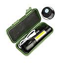 ราคาถูก ไฟแสงจ้าLED-ไฟฉาย LED ไฟฉายมือถือ ตัวไฟฉาย 2300 lm นาฬิกา LED อิมิเตอร์ 4.0 โหมดโคมไฟ with Battery and USB Cable เคลื่อนที่ ป้องกับลม เท่ห์ พกพาง่าย Wearproof / อลูมิเนียมอัลลอย