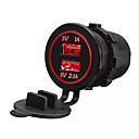 billiga USB-lossmann 5v 3.1a dual usb port billaddare eluttag biladapter uttag super vattentät för iphone huawei suv motorcykel båt van dc 12v-24v
