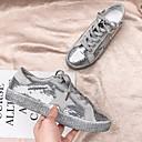Χαμηλού Κόστους Σακίδια μόδας-Γυναικεία Αθλητικά Παπούτσια Επίπεδο Τακούνι Στρογγυλή Μύτη Πανί Καλοκαίρι Λευκό / Ασημί / Γκρίζο