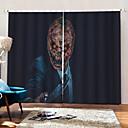 Χαμηλού Κόστους Χαραγμένα βραχιόλια-προσωπικότητα πρωτότυπο έθιμο κουρτίνες σκίαση σκίασης αποκριές διακοσμητικά υφάσματα κουρτίνα για καθιστικό / υπνοδωμάτιο / κλαμπ