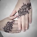 ราคาถูก สติกเกอร์แทททู-5 ชิ้นกันน้ำสติกเกอร์สักชั่วคราวเพิ่มขึ้นดอกไม้อื่น ๆ ปลอม t atto แฟลช tatoo มือแขนเท้ากลับรอยสักศิลปะบนร่างกายสำหรับสาวผู้หญิงผู้ชาย