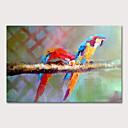 povoljno Apstraktno slikarstvo-Hang oslikana uljanim bojama Ručno oslikana - Životinje Pop art Moderna Bez unutrašnje Frame
