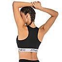 Χαμηλού Κόστους Εσωτερική Άσκηση-Γυναικεία Αθλητικό σουτιέν Αθλητικά Σουτιέν Ελαστίνη Zumba Fitness Γυμναστήριο προπόνηση Ελαφρύ Αναπνέει Anti Transpirație Μαύρο Μοντέρνα / Μικροελαστικό