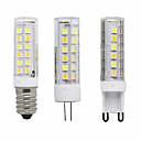 Χαμηλού Κόστους LED Φωτολωρίδες-3pcs 7 W LED Λάμπες Καλαμπόκι LED Φώτα με 2 pin 300 lm E14 G9 G4 T 40 LED χάντρες SMD 2835 Διακοσμητικό Θερμό Λευκό Ψυχρό Λευκό Άσπρο 85-265 V