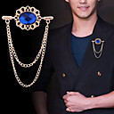 Χαμηλού Κόστους Κρεμαστά Κολιέ-Ανδρικά Cubic Zirconia Καρφίτσες Σύνδεσμος / Αλυσίδα Αρκούδα Vertical Θύσανος Βασικό Μοντέρνο Ροκ Μοντέρνα Καρφίτσα Κοσμήματα Μαύρο Μπλε Για Γάμου Πάρτι Καθημερινά Δουλειά