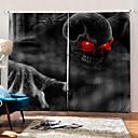 billige 3D gardiner-nye uv digitale utskrifter røde øyne monster bakgrunnsgardiner blackout fuktighetsfast stoffgardin for stue / soverom