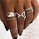 billige Motering-Dame Ring Set Multi-fingerring 5pcs Gull Legering Enkel Vintage Europeisk Fest Gave Smykker crossover