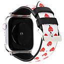 baratos Impressoras 3D-pulseira de pulseira de coração de amor para banda de relógio de apple 38 / 40mm série de couro de 42 / 44mm 4 3 2 1