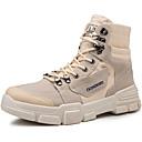 זול מגפיים לגברים-בגדי ריקוד גברים נעלי נוחות קנבס סתיו / סתיו חורף ספורטיבי / יום יומי מגפיים חום / בז' / חאקי