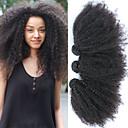 povoljno Ekstenzije od prave kose prirodne boje-3 paketa Brazilska kosa Afro Kinky Remy kosa Ljudske kose plete Ekstenzije od ljudske kose 8-26 inch Isprepliće ljudske kose Žene proširenje novi Proširenja ljudske kose Žene