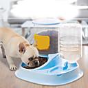 ราคาถูก ถ้วยใส่อาหารสุนัข-สุนัข แมว การให้อาหาร และ ปริมาณน้ำที่มีอยู่ / ชามและขวดน้ำ / เครื่องป้อนอาหารสัตว์ 2.5 L เรซิน กันน้ำ ซักได้ ทนทาน สีพื้น สีเทา ฟ้า สีชมพู ชามและการให้อาหาร