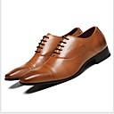 Χαμηλού Κόστους Αντρικά Oxford-Ανδρικά Παπούτσια άνεσης PU Καλοκαίρι Δουλειά / Καθημερινό Oxfords Αναπνέει Μαύρο / Καφέ
