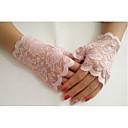 Χαμηλού Κόστους Τούφες Μαλλιών-Δαντέλα Μέχρι τον καρπό Γάντι Γάντια Με Μονόχρωμο