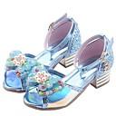 זול סנדלים לילדים-בנות נעליים לילדת הפרחים מיקרופייבר סנדלים ילדים קטנים (4-7) סגול / כחול / ורוד קיץ