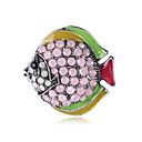 baratos Broches-Mulheres Broches Animal Desenho Fashion Broche Jóias Rosa Claro Azul Real Para Presente Diário