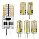 Χαμηλού Κόστους LED Bi-pin Λαμπτήρες-ZDM® 6pcs 5 W LED Φώτα με 2 pin 450 lm G4 48 LED χάντρες SMD 3014 Θερμό Λευκό Ψυχρό Λευκό 12 V
