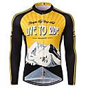 povoljno Biciklističke majice-21Grams Muškarci Dugih rukava Biciklistička majica Crna / žuta Retro Bicikl Biciklistička majica Majice UV otporan Prozračnost Ovlaživanje Sportski 100% poliester Brdski biciklizam biciklom na cesti